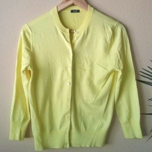 J. Crew Yellow Cardigan Size SP